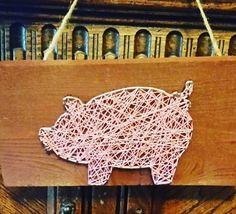 String art piggy bank pig