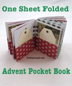 One Sheet Advent Pocket Book - awesome idea for a Christmas advent calendar!