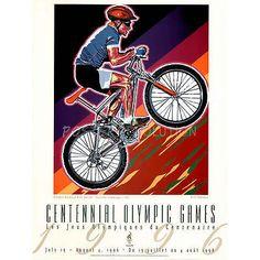 Hiro Yamagata Olympic Mountain Bike Racing 1996 Atlanta Official Sports Poster P