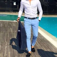 Mens Outfit with Navy Blue Pants . Mens Outfit with Navy Blue Pants . asos Wedding Skinny Suit Pant In Navy Navy Blue Pants Outfit, Jogger Outfit, Shirt Outfit, Boat Outfit, Chinos Men Outfit, Men Blazer, Casual Blazer, Red Pants, White Pants