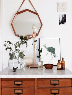 modern homewares mixed with vintage accessories / sfgirlbybay