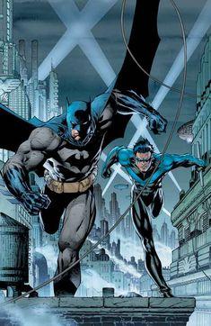 Batman Over Gotham 1970s Cartoon Original Animation Art Cel Original Background Other Original Comic Art