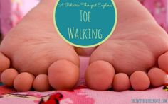 Toe Walking is a common child development issue. Find out what it is and why it might be happening! #toewalking #childdevelopment #sensory #pedipt #tricksofthetrade #tippytoes Repinned by SOS Inc. Resources pinterest.com/sostherapy/.