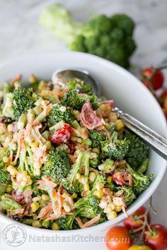 Broccoli Corn and Tomato Salad. This one's a keeper! @natashaskitchen