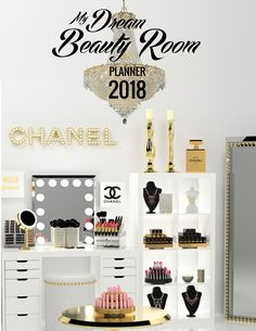 CLICK TO DOWNLOAD The My DREAM Beauty Room Planner For 2018 In Order To #GLAM And Upgrade Your #BeautyRoom & Grow Your #Makeup Collection. Get Access To The Best Quality Organizers Designed Specifically For the Iconic IKEA® Alex Drawers For Your Makeup Vanity To Organize Your Entire #MakeupCollection. Great for the #MUA who needs to organize their #makeup and #makeupvanity. Learn how to make your Beauty Room unique to your personal style that reflects your love for Makeup and ALL THINGS…