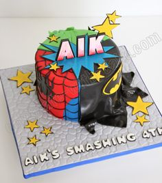 Celebrate with Cake!: Super Hero Mash Up Cake
