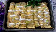 Naleśniki zapiekane z gyrosem Polish Recipes, Polish Food, Crepes, Asparagus, Green Beans, Good Food, Food And Drink, Chicken, Vegetables