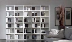 Libreria componibile laccata bianca Artik