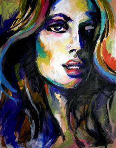 9x12 Original Oil Pastel Portrait