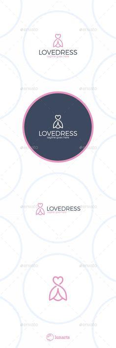 Idea per il logo di un negozio di abbigliamento specializzo in vestiti.  Oppure per un negozio che vende abiti da sposa.
