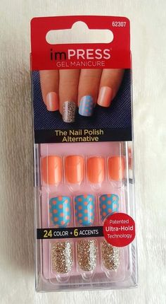 KISS imPRESS Press-On Manicure SWEPT AWAY 24 Color + 6 Accents  # 62307 #imPRESSbyKissProducts