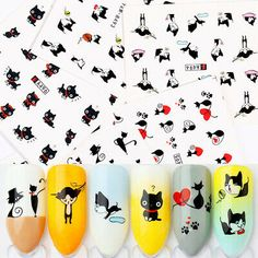 Shape thenail with anail file, buff and smooth thenail with anail buffer. Remove the film of product, cut out the pattern you like and soak it into water for seconds. Nail Decorations, Diys, Decals, How To Remove, Smooth, Shapes, Stickers, Water, Gripe Water