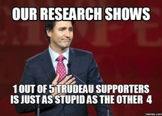 Yup! Canadian Prime minister is a jackass