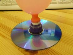 Balloon Powered Hover Jet + D.Y CD hovercraft + D.Y vinyl record hovercraft… Easy Science Experiments, Science For Kids, Science Expirements, Stem Projects, Science Projects, Fair Projects, Balloon Powered Car, Balloon Rocket, Tornado In A Bottle