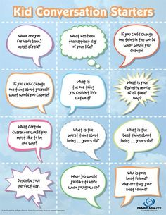 Conversation Starters for Kids | Family Minute. Going to try these at family dinners! #parenting #family