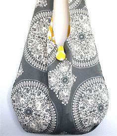 Reversible Beach Boho Bag Adjustable Messenger Sling Bag or Shoulder Bag. $42,00, via Etsy.