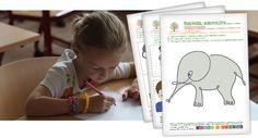 Rozvíječky | Uceni-v-pohode.cz | Pracovní listy zaměřené na prohlubování dětských dovedností | Learning To Write, Diy For Kids, Teaching Ideas, Nova, Writing, Fun, Fin Fun, Lol, Funny