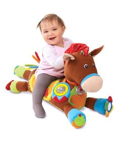 Giddy Up & Play Baby Activity Soft Toy Horse - Educational Toys Planet Baby Activity Toys, Infant Activities, Play Activity, Baby Toys, Kids Toys, Children's Toys, Baby Baby, Play Horse, Unique Baby Gifts
