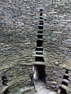 Broch of Mousa, Shetland, Scotland.  Example of an Iron Age round tower.  Tallest still standing in the world and among the best preserved buildings of prehistoric Europe.