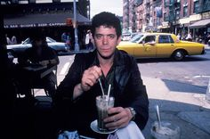 Lou Reed photographed at the Cafe Figaro in New York City in 1982.