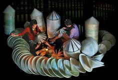 Top night market in Vietnam makes conical hats