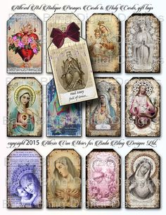 Antique Prayer and Holy Cards religious collage sheets 3 x Collage Sheet, Collage Art, Digital Collage, Religious Art, Religious Education, Religious Jewelry, Faith Crafts, Art Trading Cards, Art Terms