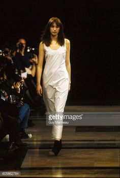 Model walks the Helmut Lang Fall 1991 RTW collection. (Photo byGuy Marineau/Condé Nast via Getty Images). (Photo byGuy Marineau/Condé Nast via Getty Images)Cecilia Chancellor