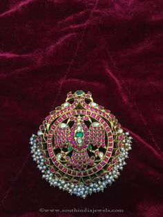 Antique Gold Ruby Pendant from Big Shop ~ South India Jewels Wedding Jewellery Inspiration, Indian Wedding Jewelry, Indian Jewelry, Bridal Jewelry, Mysore, Antique Gold, Antique Jewelry, Ruby Jewelry, Gold Jewelry