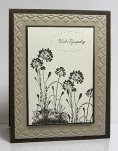 SU! Serene Silhouettes Stamp Set; colors are Early Espresso, Very Vanilla, Crumb Cake; Essentials Paper Piercing Pack; Tulip Border Embossing Folder - Catherine Pooler