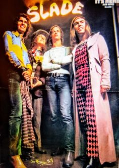 Slade Band, Noddy Holder, British Rock, 25th Anniversary, Number One, Lineup, Leather Jacket, Celebrities, Fashion