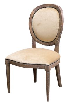 "Tyler Side Chair - Hand-carved Hardwood Frame - in white  20""W x 24""D x 38.25""H"