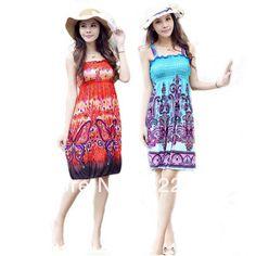 Free Shipping 2013 Spring Summer Bohemia women Suspender Vintage Long Novelty Dress Beach Casual Sleeveless Fashion Show Dresses Price    US $ 8.28