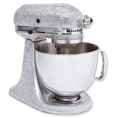 Kitchen Aid stand Mixer with Crystals - Luxe Stuff Gift Guide - Holiday Gift Guide 2013 - Shopping - InStyle Stand Mixer, Mixers, Kitchen Aid Mixer, Diamond Are A Girls Best Friend, Kitchen Accessories, Kitchen Gadgets, Sweet Home, Crystals, Cool Stuff