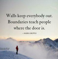 Yup! Healthy Boundaries