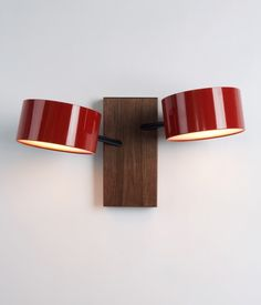 Excel Double Sconce - Red  by Rich Brilliant Willing | Roll & Hill