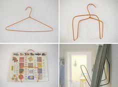Wire Hanger Crafts - DIY Wall Shelf - superziper.com