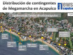 Noticias Acapulco News - Distribución de contingentes en Megamarcha