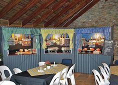 Shebeen Food Stations - Shebeen Gazebo's Food Stations, Gazebo, Party Themes, Entertaining, Outdoor Decor, Table, Furniture, Event Ideas, Home Decor