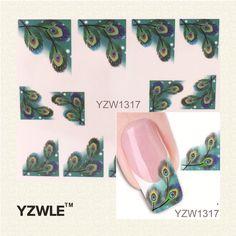 Hot Sale XF1317 Japanese Style Watermark Nail Art Sticker 3D Design Cute Green Feather, Water Transfer Nail Decal Manicure Tools   Confira um novo artigo em http://produtoschineses.com.br/products/hot-sale-xf1317-japanese-style-watermark-nail-art-sticker-3d-design-cute-green-feather-water-transfer-nail-decal-manicure-tools/
