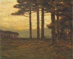 """""""Sunset Glow,"""" Charles Warren Eaton, oil on canvas, 20.2 x 24.1"""", private collection."""