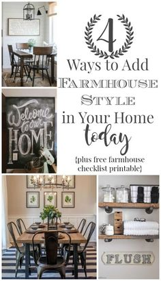 Every since Joanna Gaines has taken over Pinterest, farmhouse decor has been HUGE! Here are four ways to add the farmhouse style in your home today.