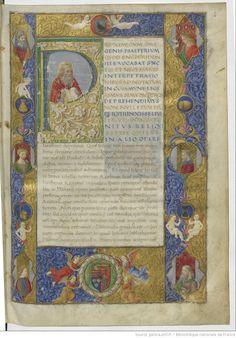 S. Jérôme, sur les psaumes. Ms. fait en 1488 pour Mathias Corvin, enluminé par Attavante.