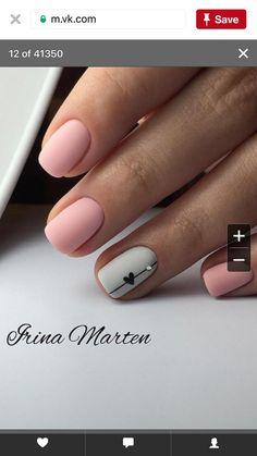 Schöne finger - New Ideas Acrylic Nail Designs, Nail Art Designs, Acrylic Nails, Cute Nails, Pretty Nails, Hair And Nails, My Nails, Short Nails Art, Heart Nails