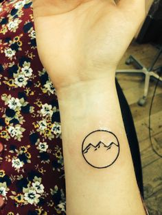 I am mountain. I am dust. #tattoo #minimalist