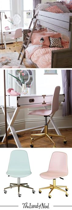 Kids desk chairs are the finishing touch to any bedroom or study space.