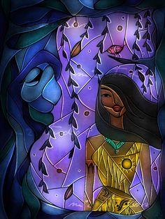 stained-glass-princesses-disney-mandi-manzano-12 - Pocahontas.
