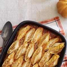 """Pumpkin-Ricotta Stuffed Shells~ just saw this in my Oct Country Living and thought to myself, """"OMG! I MUST MAKE AND EAT THIS!"""" ... report to follow... :)"""
