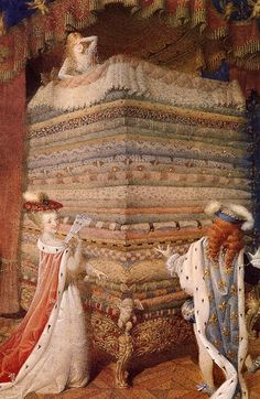 Illustration by Gennady Spirin for The Princess and the Pea.