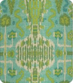 Another fantastic ikat option--if the greens match. Am worried that both the upholstery options I picked out are too lime and not sage enough.