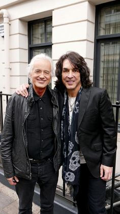 Jimmy Page with Paul Stanley of Kiss in London on June 12, 2015